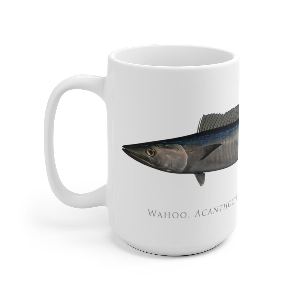 Wahoo No. 2 Mug - Stick Figure Fish Illustration