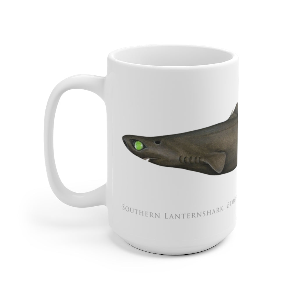 Southern Lanternshark Mug - Stick Figure Fish Illustration