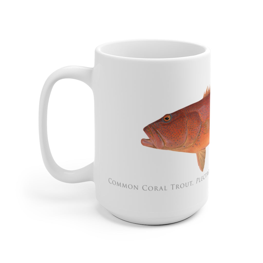 Common Coral Trout Mug - Stick Figure Fish Illustration