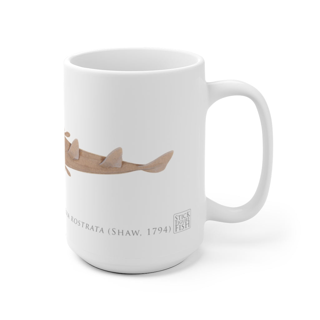 Eastern Shovelnose Ray Mug - Stick Figure Fish Illustration