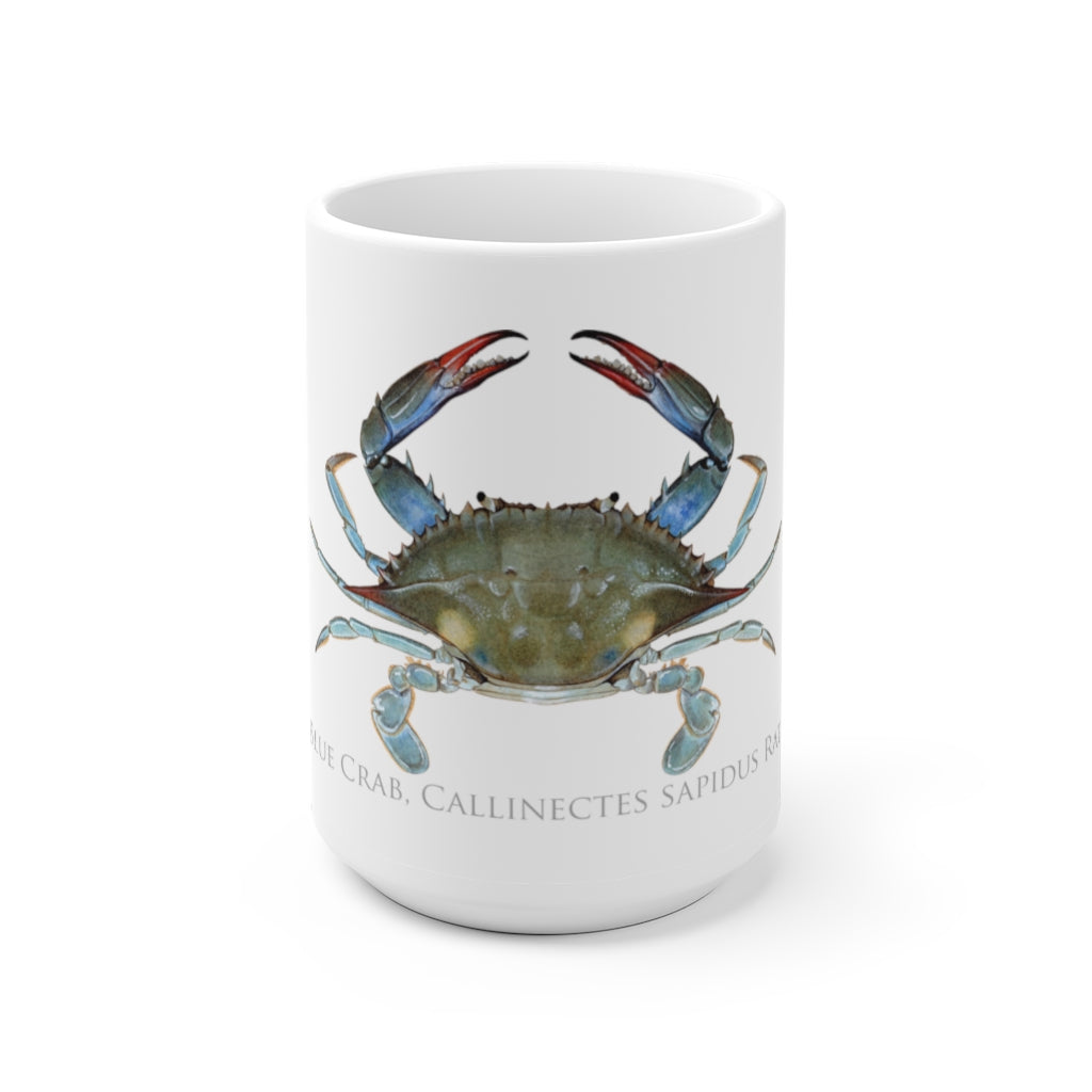 Louisiana Blue Crab Mug - Stick Figure Fish Illustration