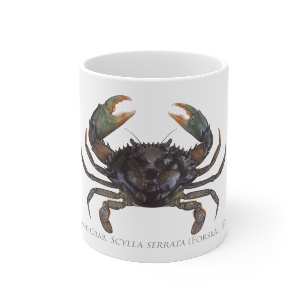 Mud Crab Mug - Stick Figure Fish Illustration