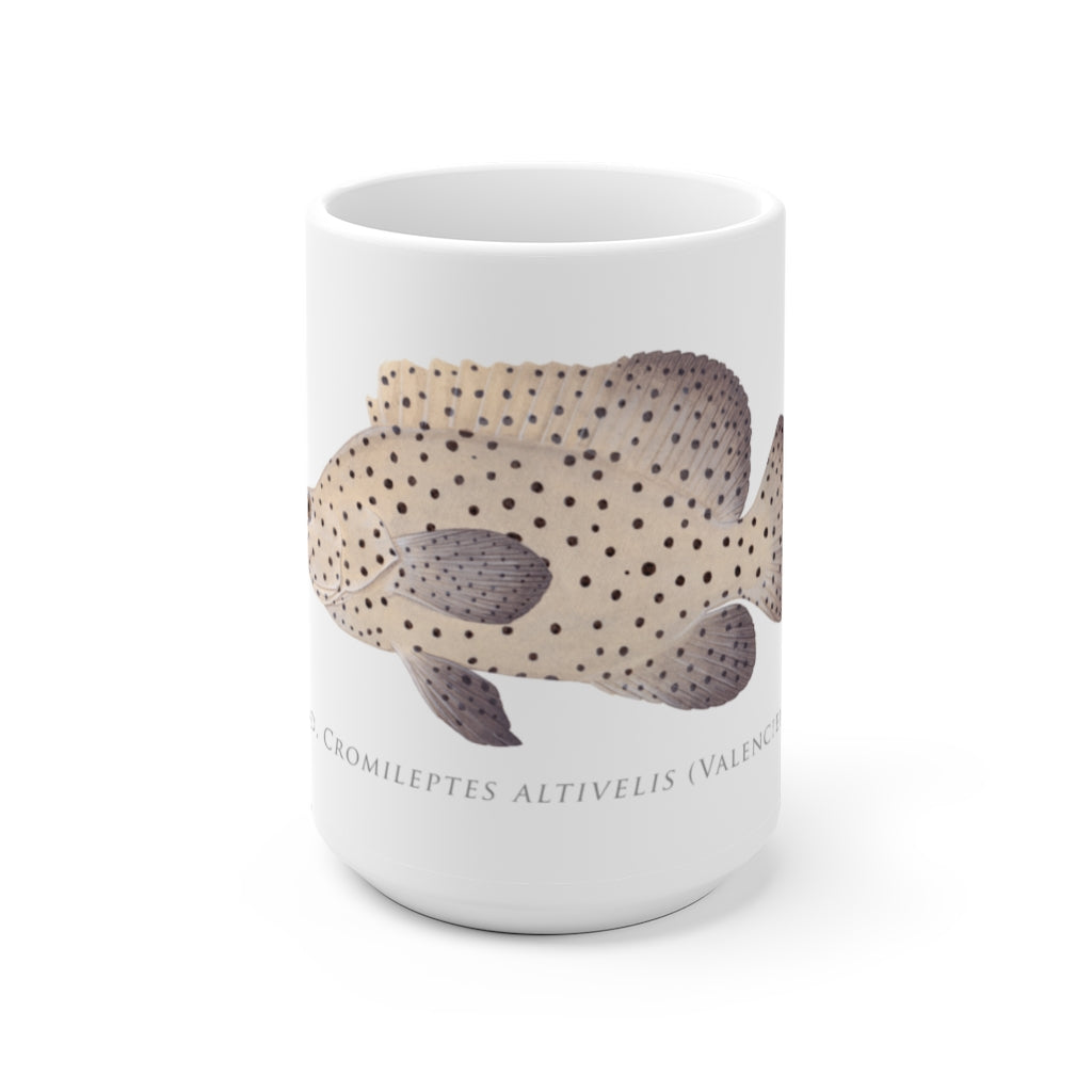 Barramundi Cod Mug - Stick Figure Fish Illustration