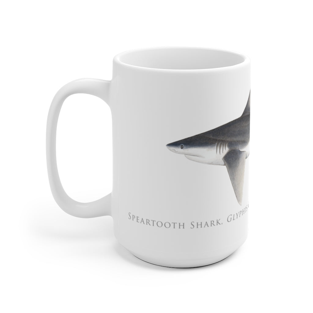 Speartooth Shark Mug - Stick Figure Fish Illustration