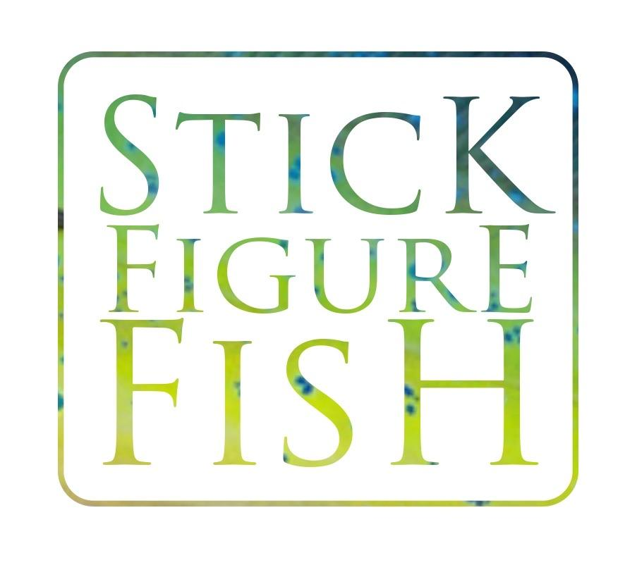 Custom Shark or Ray Comission Gift Card - Stick Figure Fish Illustration