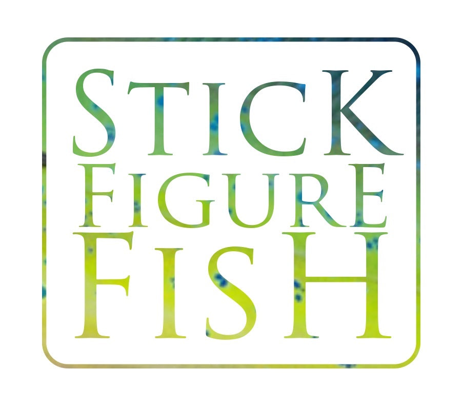 Gift Card - Stick Figure Fish Illustration