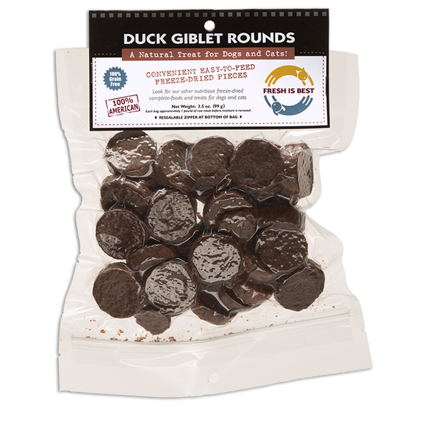 Freeze Dried Duck Giblet Rounds