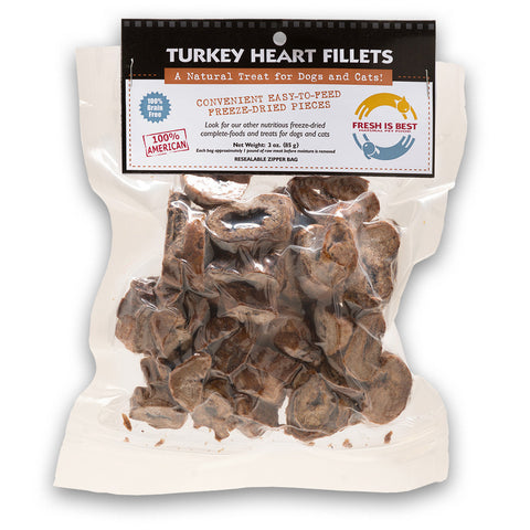 Freeze Dried Turkey Heart Fillets
