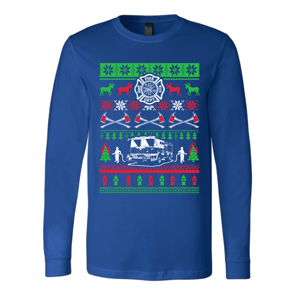 Firefighter Ugly Christmas Sweater - OxyTee