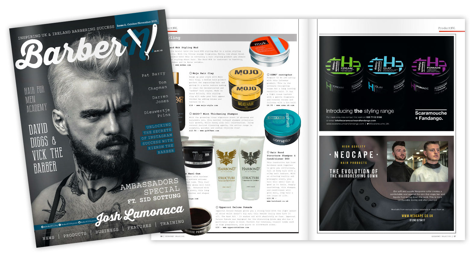 Mojo Hair mentioned in Barber NV Magazine