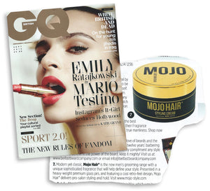 Mojo Hair* in the British edition of GQ magazine