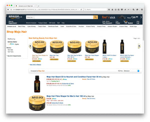 Mojo Hair* range is now available on amazon.co.uk