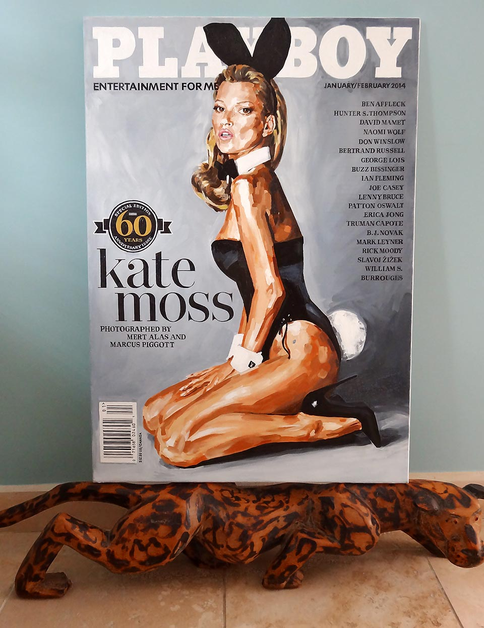 Kate Moss Playboy cover painted by JubeJube