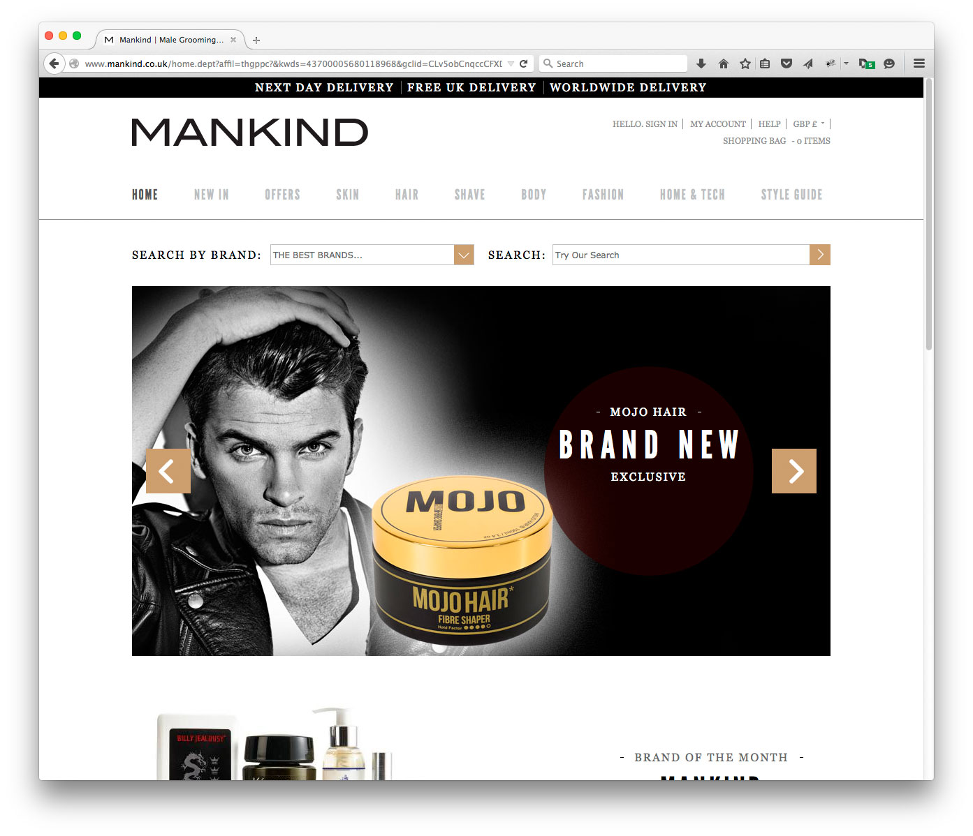 Mojo Hair* on Mankind