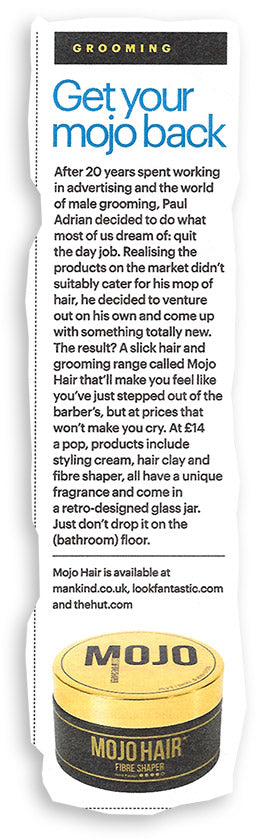 Mojo Hair* in Shortlist magazine