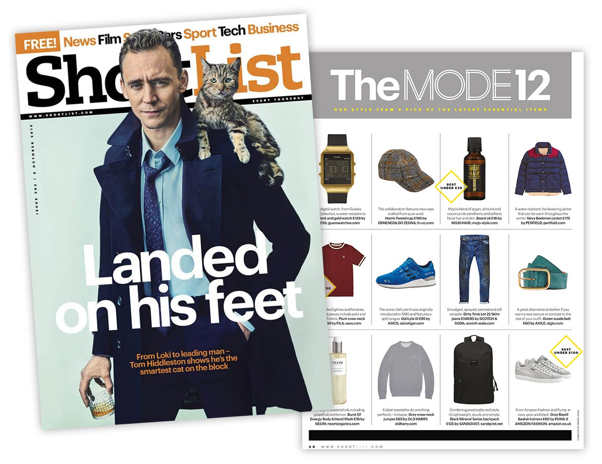 Mojo Hair Beard Oil featured in Shortlist magazine