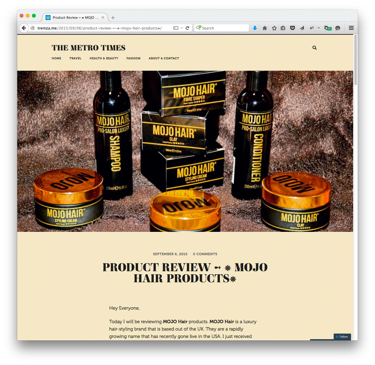 The Metro Times reviews Mojo Hair*