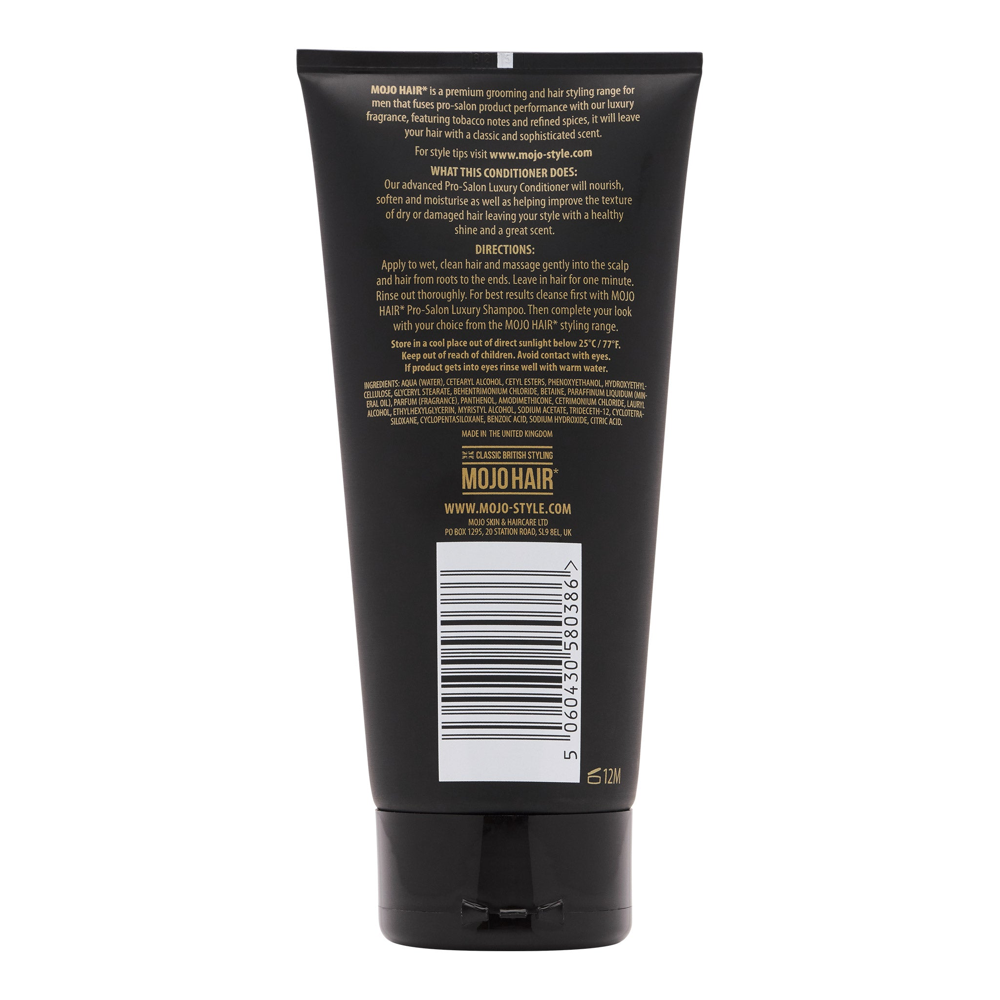 Mojo Hair Men's Luxury Conditioner (Rear)