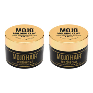 Mojo Hair Molding Clay (75ml) x 2