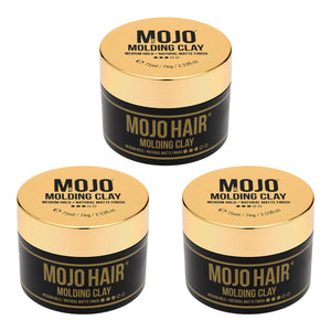 Mojo Hair Molding Clay (75ml) x 3