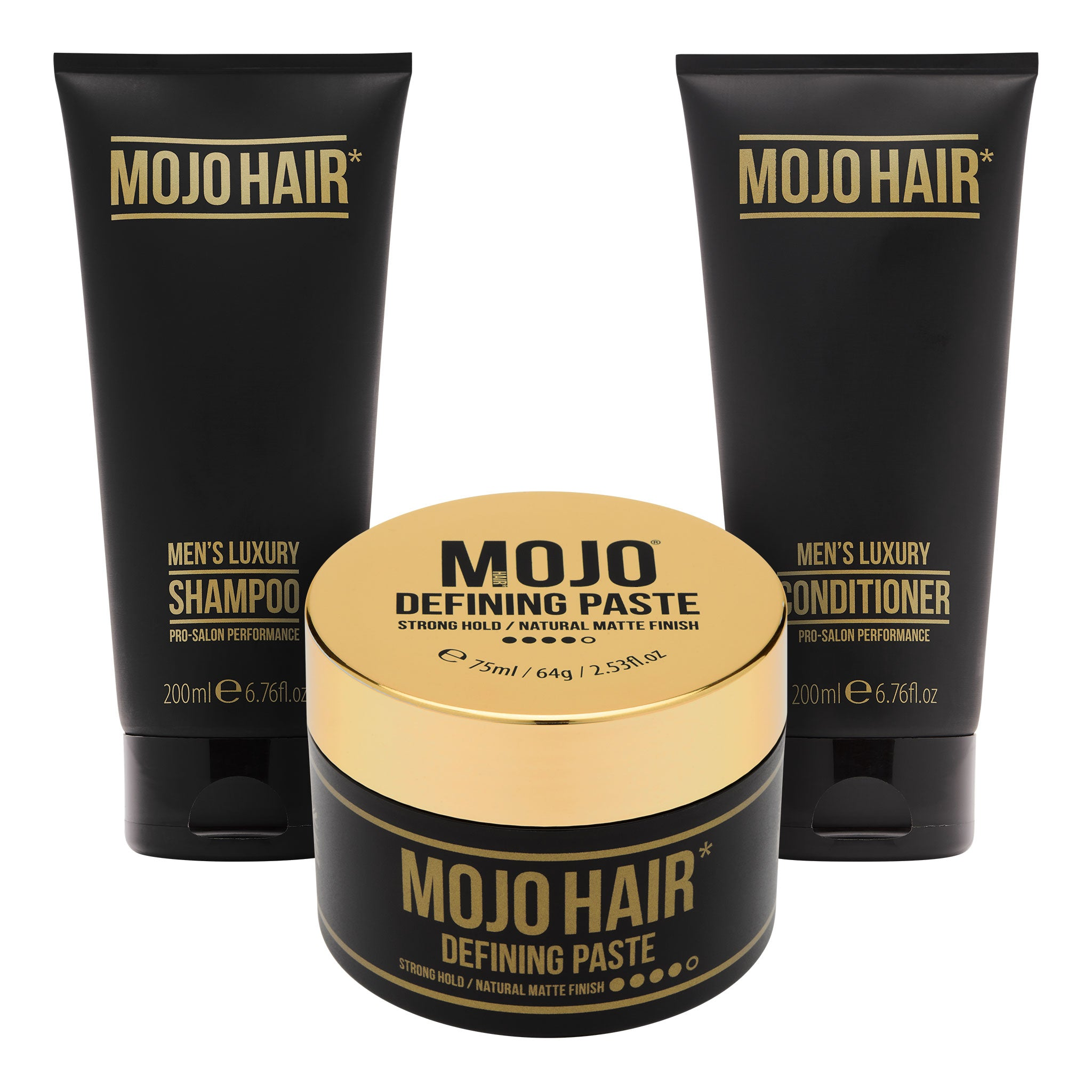 Mojo Hair Defining Paste Set with Shampoo & Conditioner