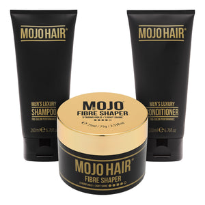 Mojo Hair Fibre Shaper Set with Shampoo & Conditioner