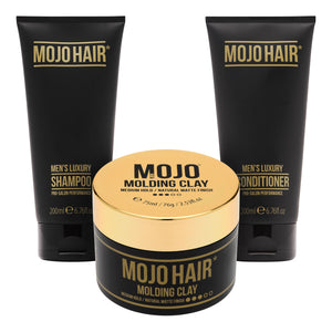 Mojo Hair Molding Clay Set with Shampoo & Conditioner