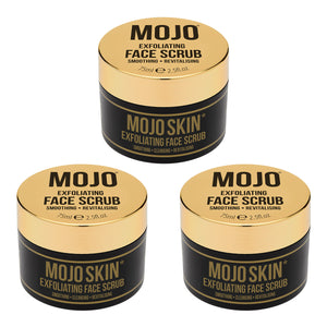 Mojo Skin Exfoliating Face Scrub (75ml / 2.5fl.oz) x 3