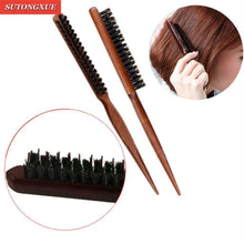 Load image into Gallery viewer, 1 PC Pro Professional Salon Teasing Styling Wood Hair Brushes-Hair Accessories-Look Love Lust