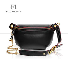 Load image into Gallery viewer, Leather Waist Bag-Shoulder Bags-Look Love Lust