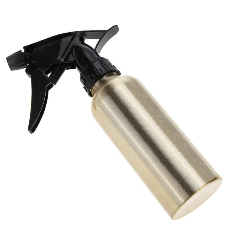 200ml Aluminum Hair Salon Hairdressing Empty Refillable Sprayer Bottle-Look Love Lust