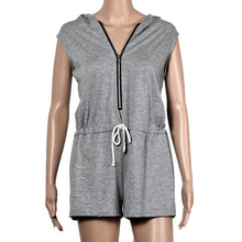 Load image into Gallery viewer, Work Out Babe Sleeveless Hoodie Romper-Rompers-Look Love Lust