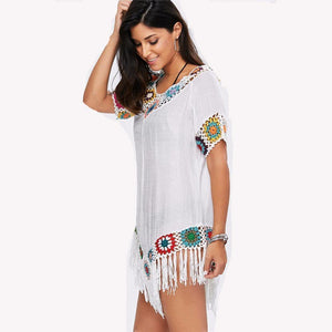 Embroidered Kaftan Tunic-Cover-Ups-Look Love Lust