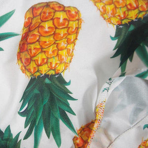 Pineapple Print Plunging V- Neckline One-Piece Swimsuit-One-Piece Suits-Look Love Lust