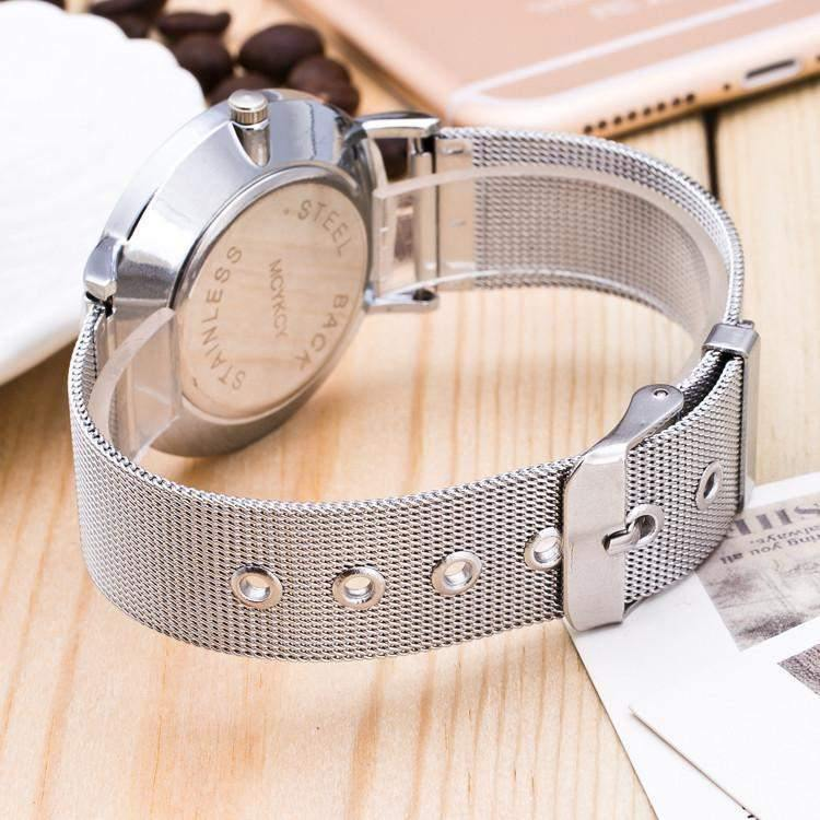 Sam Stainless Steel Wristwatch-Look Love Lust
