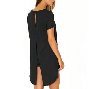 Long Back Round Neck Blouse-Blouses & Shirts-Look Love Lust