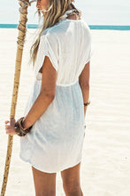 Load image into Gallery viewer, White Lace Swimsuit Cover Up-Cover-Ups-Look Love Lust