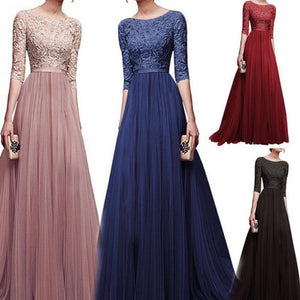 A Line Tulle Long Dress-Dresses-Look Love Lust