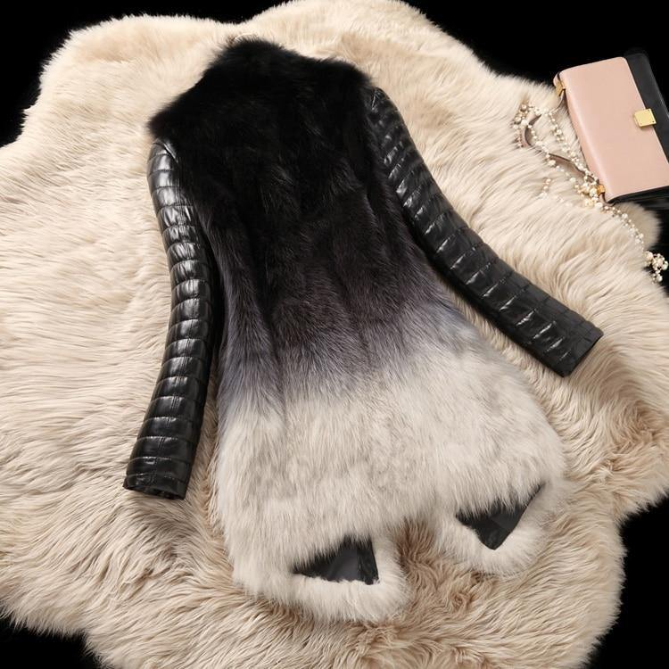 Real Fox Fur and Leather Winter Parka-Real Fur-Look Love Lust