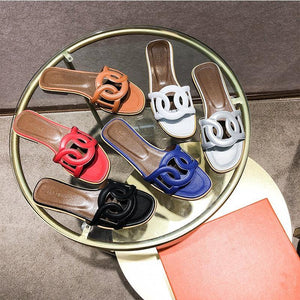 Trendy Cut Out Detailed Flat Sandals-Slippers-Look Love Lust