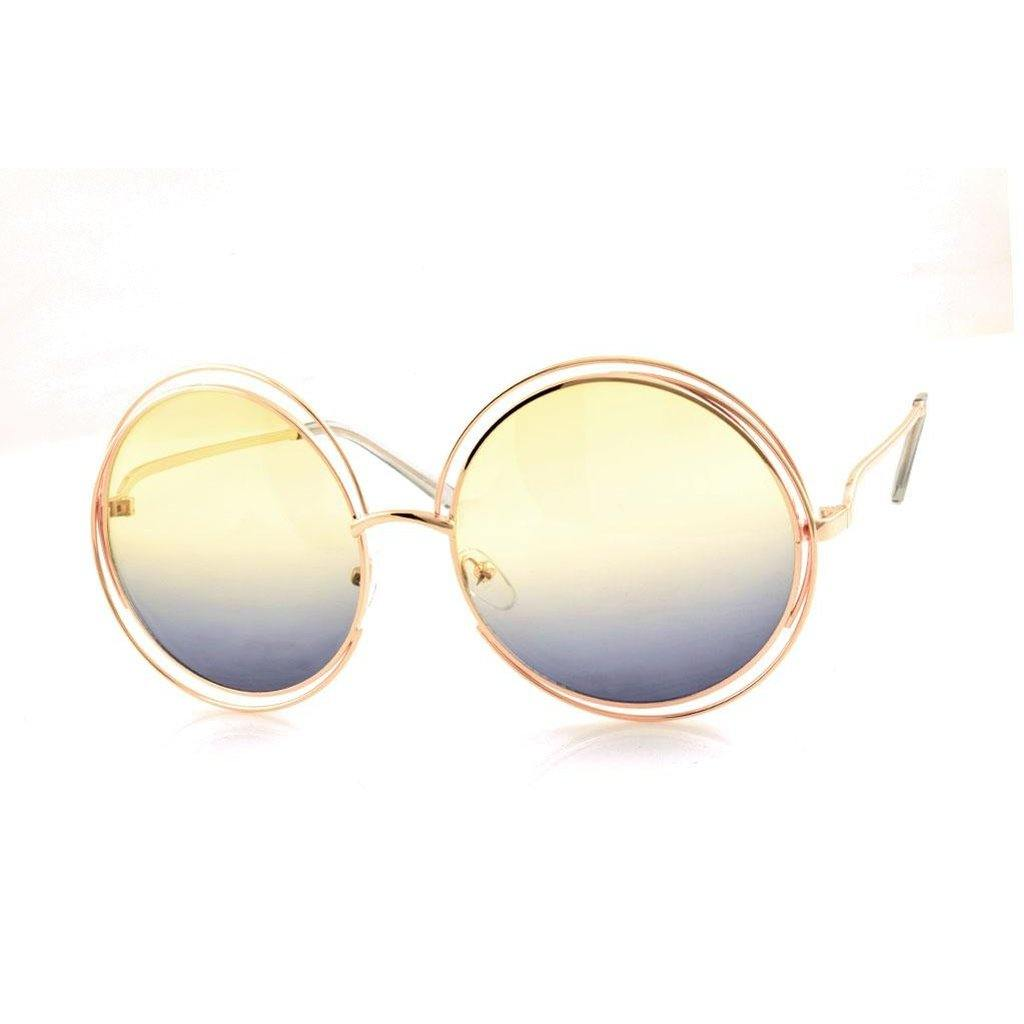 Round Rainbow Sunglasses-Women - Accessories - Sunglasses-Look Love Lust