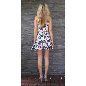 TING-A-LING Flirt Skirt - Bouquet-Women - Apparel - Skirts - Mini-Look Love Lust