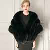 Winter Grey Faux Fox Fur Stole/Shawl-Outerwear-Look Love Lust