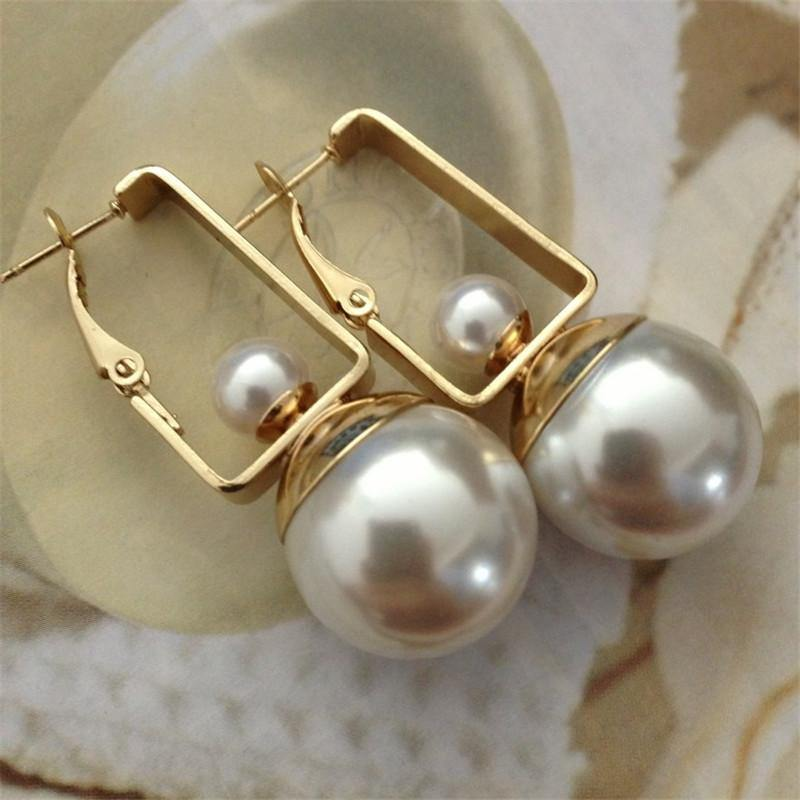Double Pearls Dangle Earrings for Women - Drop Earrings -  Look Love Lust