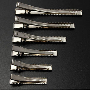 50pcs Metal Hair Alligator Clips 35mm/40mm/45mm/55mm/65mm/75mm-Hair Care-Look Love Lust