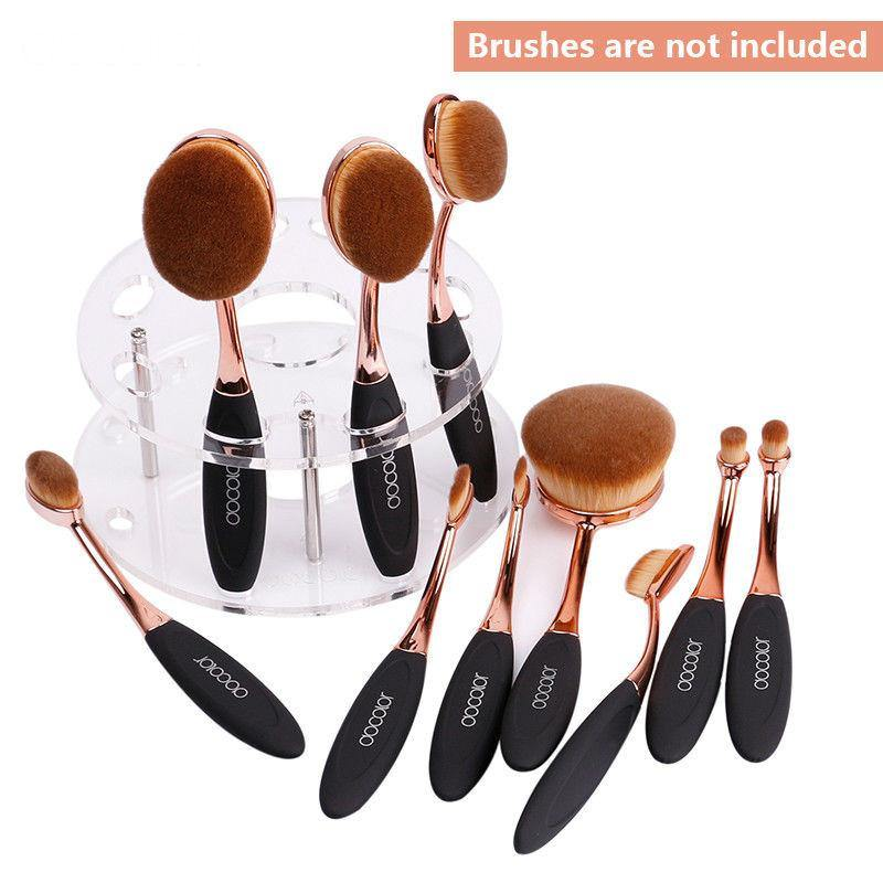 Oval Makeup Brush Holder Stand-Makeup Tools-Look Love Lust
