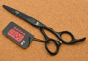6.0'' Professional Japanese Black Color Hair Trimming Shears Scissors-Hair Care-Look Love Lust