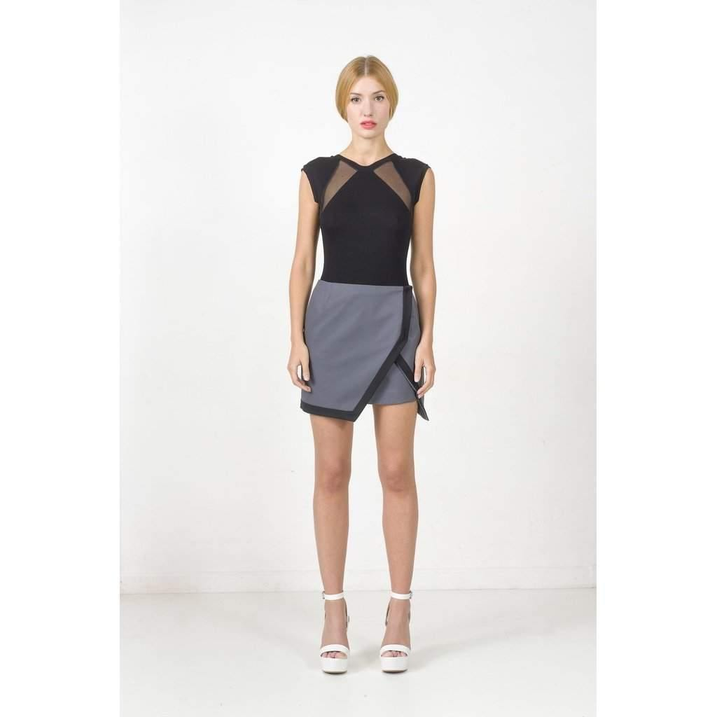 Overlapping skirt-Women - Apparel - Skirts - Mini-Look Love Lust