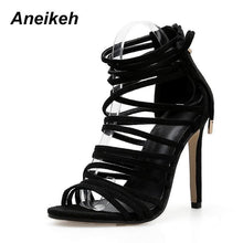Load image into Gallery viewer, Stiletto Strappy Sandals-High Heels-Look Love Lust