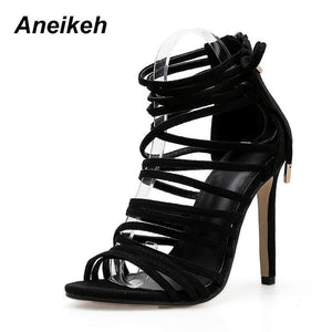 Stiletto Strappy Sandals-High Heels-Look Love Lust